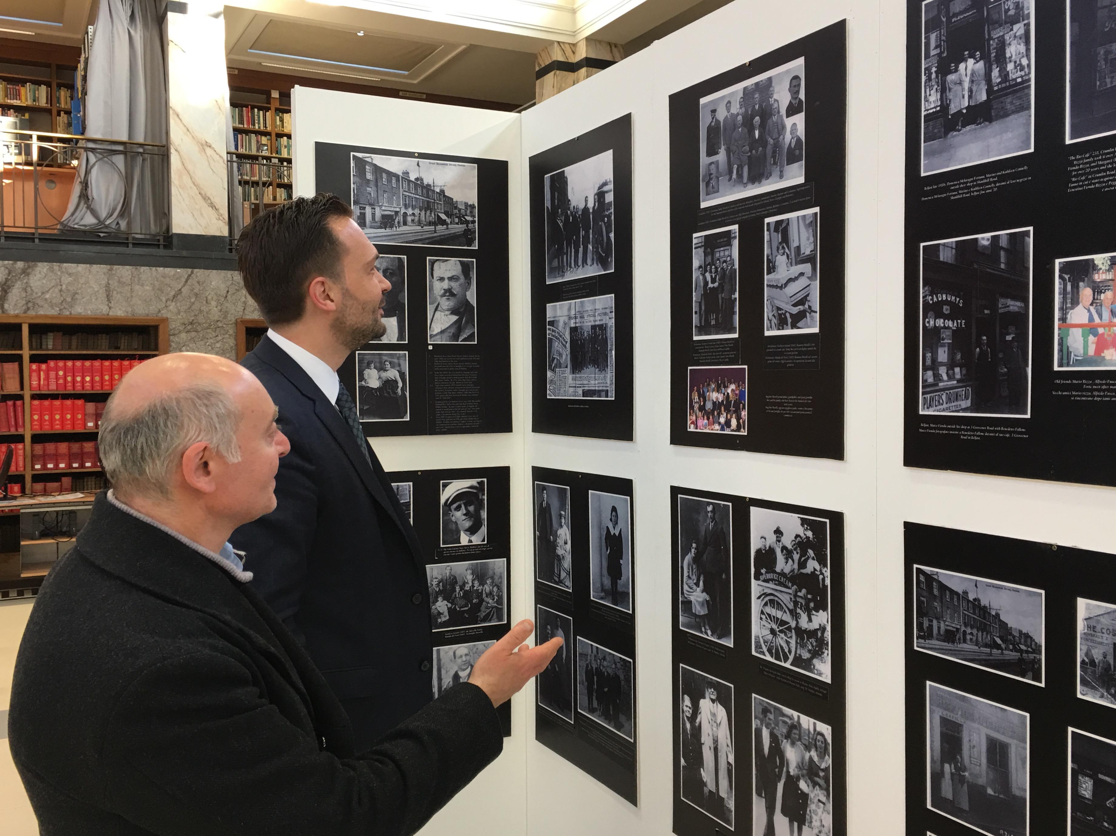 Visita alla mostra sull'emigrazione italiana e incontro con il Comites - Dublino