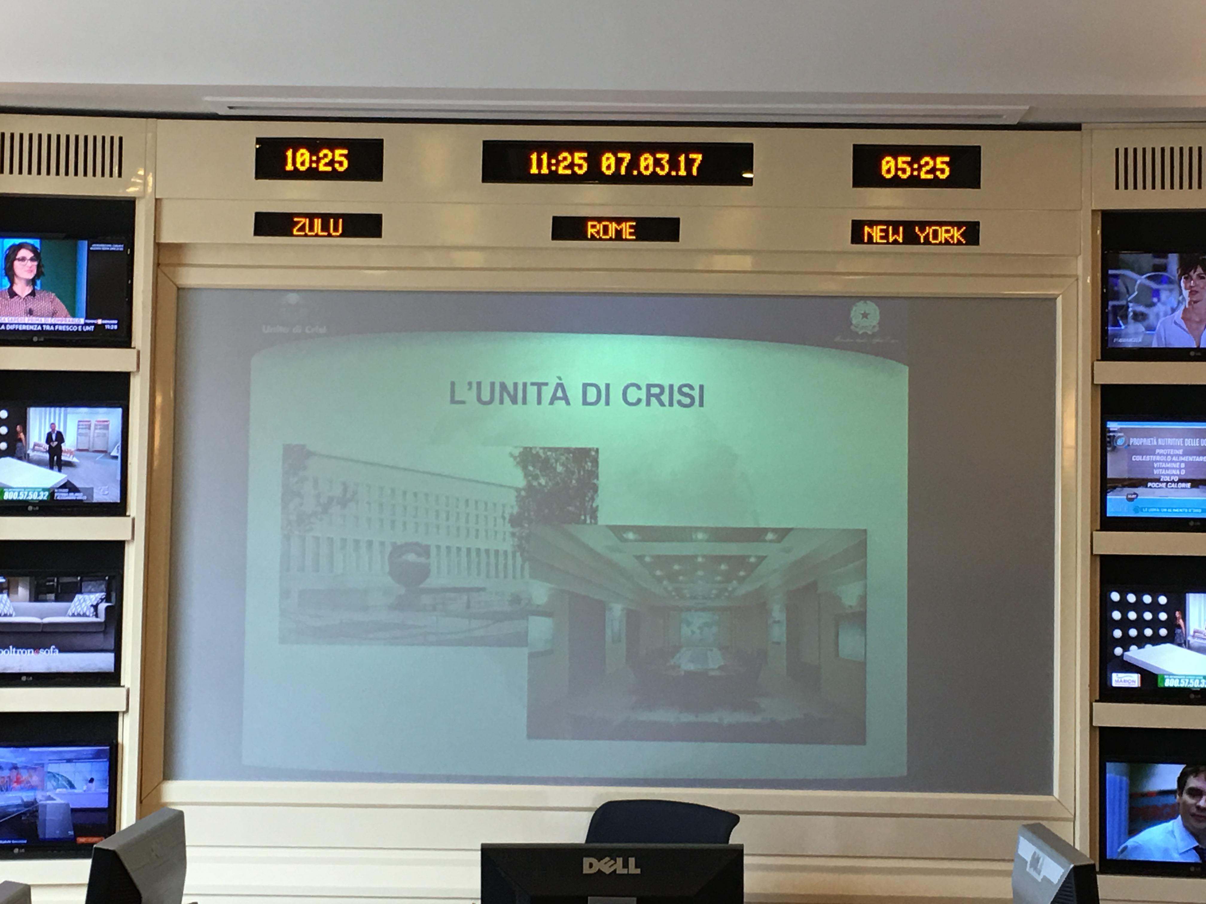 Visita all'Unità di Crisi della Farnesina - Roma